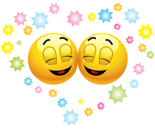 Happy face emoticons