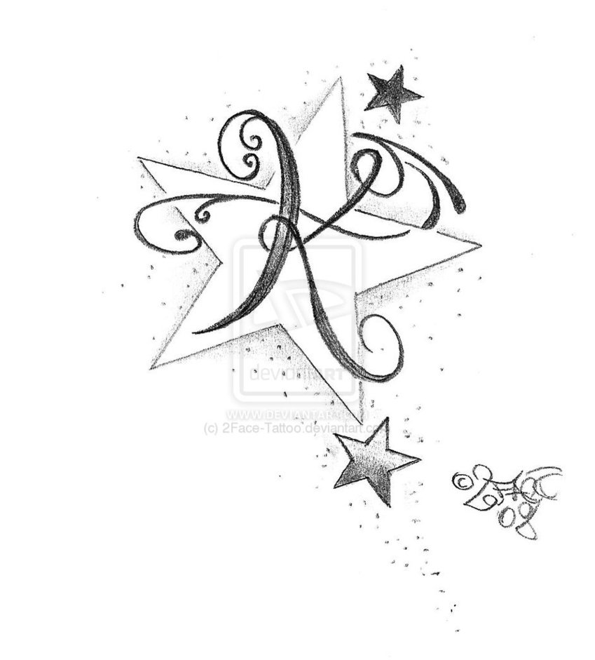 the gallery for gt heart tattoo designs with letters s
