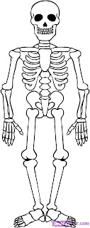 Skeleton Coloring Pages 7