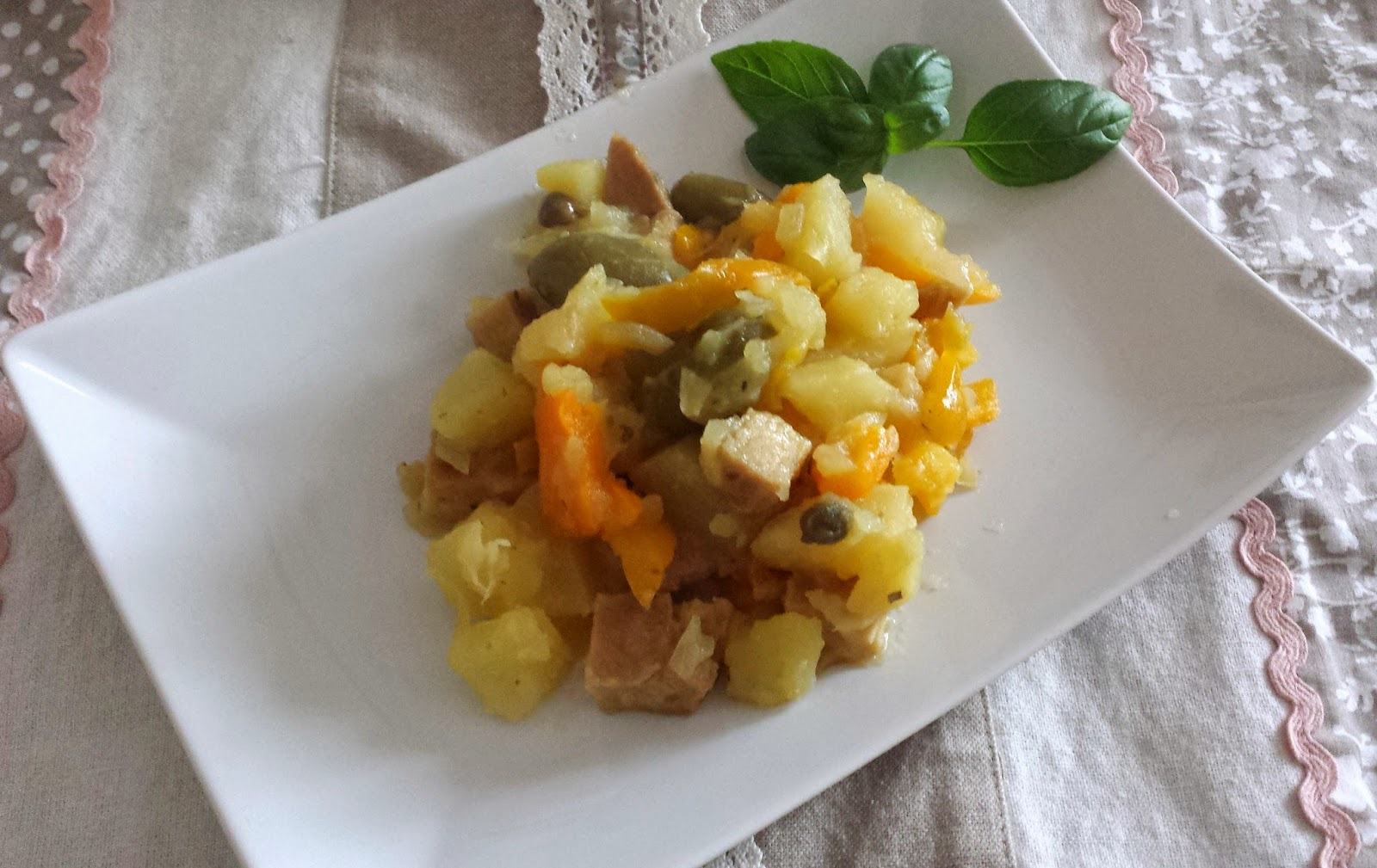 seitan con peperoni e patate