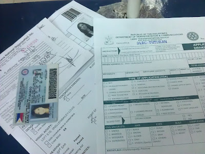 Filling up LTO Application Form