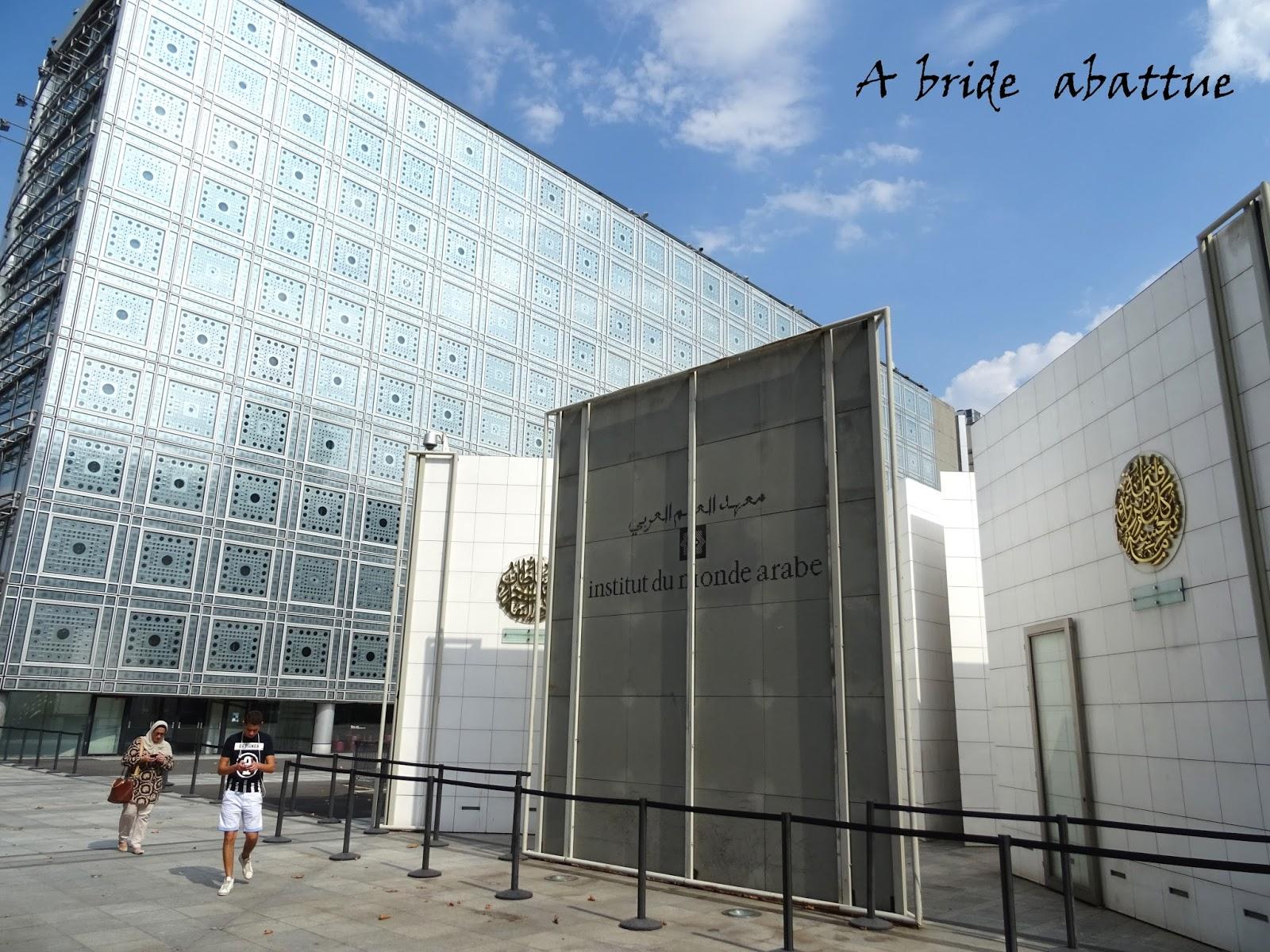 A bride abattue visite de l 39 institut du monde arabe for L architecture
