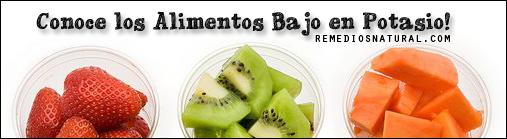 Alimentos bajos en potasio - Alimentos en potasio ...