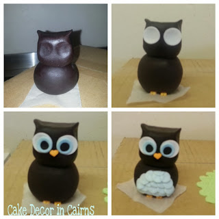 Owl Fondant topper basic steps. Cake Decorating Cairns