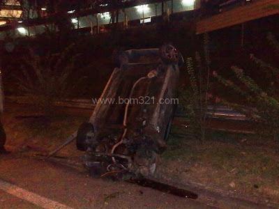 Kemalangan Perodua Viva Di Lebuh Raya Persekutuan 5.4.2011