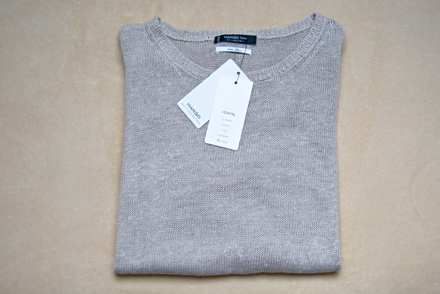 Mango linen sweater