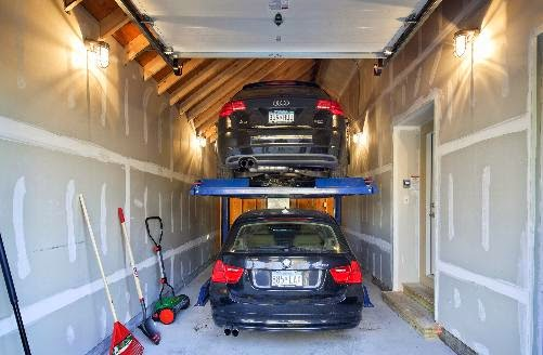 double-decker-garage-with-two-cars-stacked