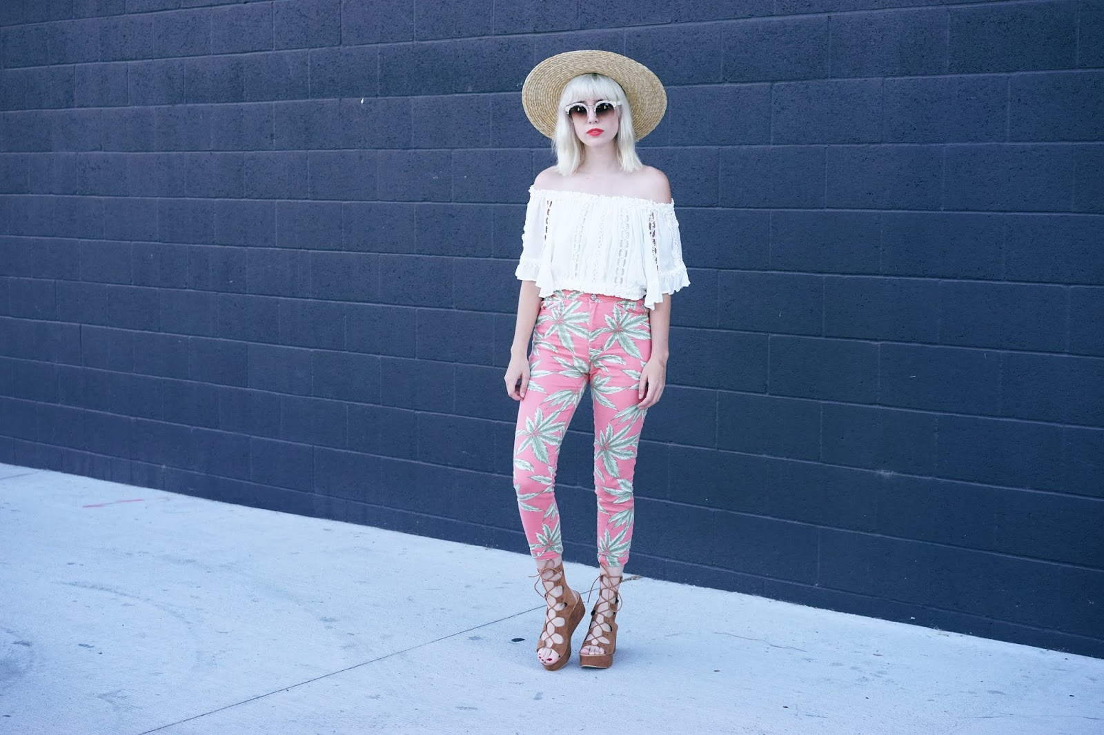 Palm Tree Pants Summer Look //