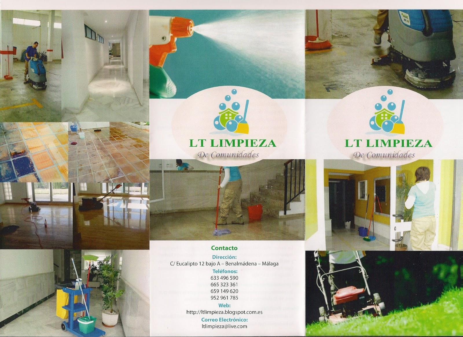 Lt limpieza nuevos tripticos - Busco trabajo de limpieza de casas por horas ...