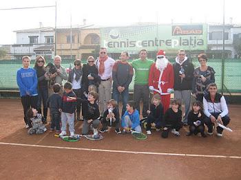 VISITA als futurs tenistes del TENNIS CENTRE PLATJA del PARE NOEL !!!!