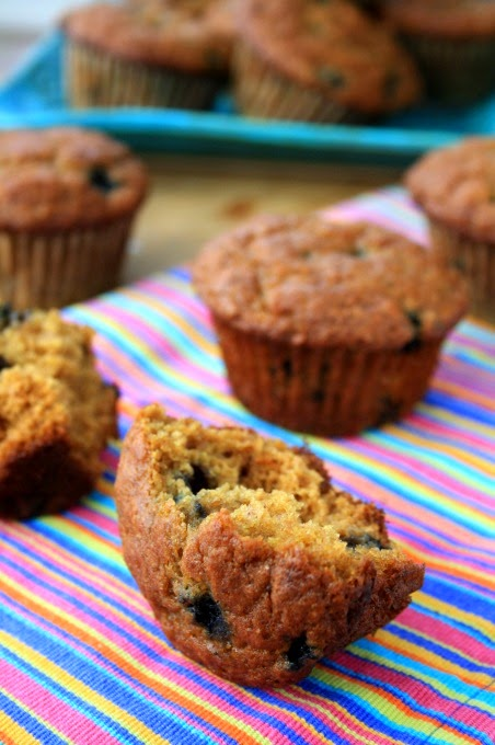 Wholesome Blueberry Wheat Germ Muffins