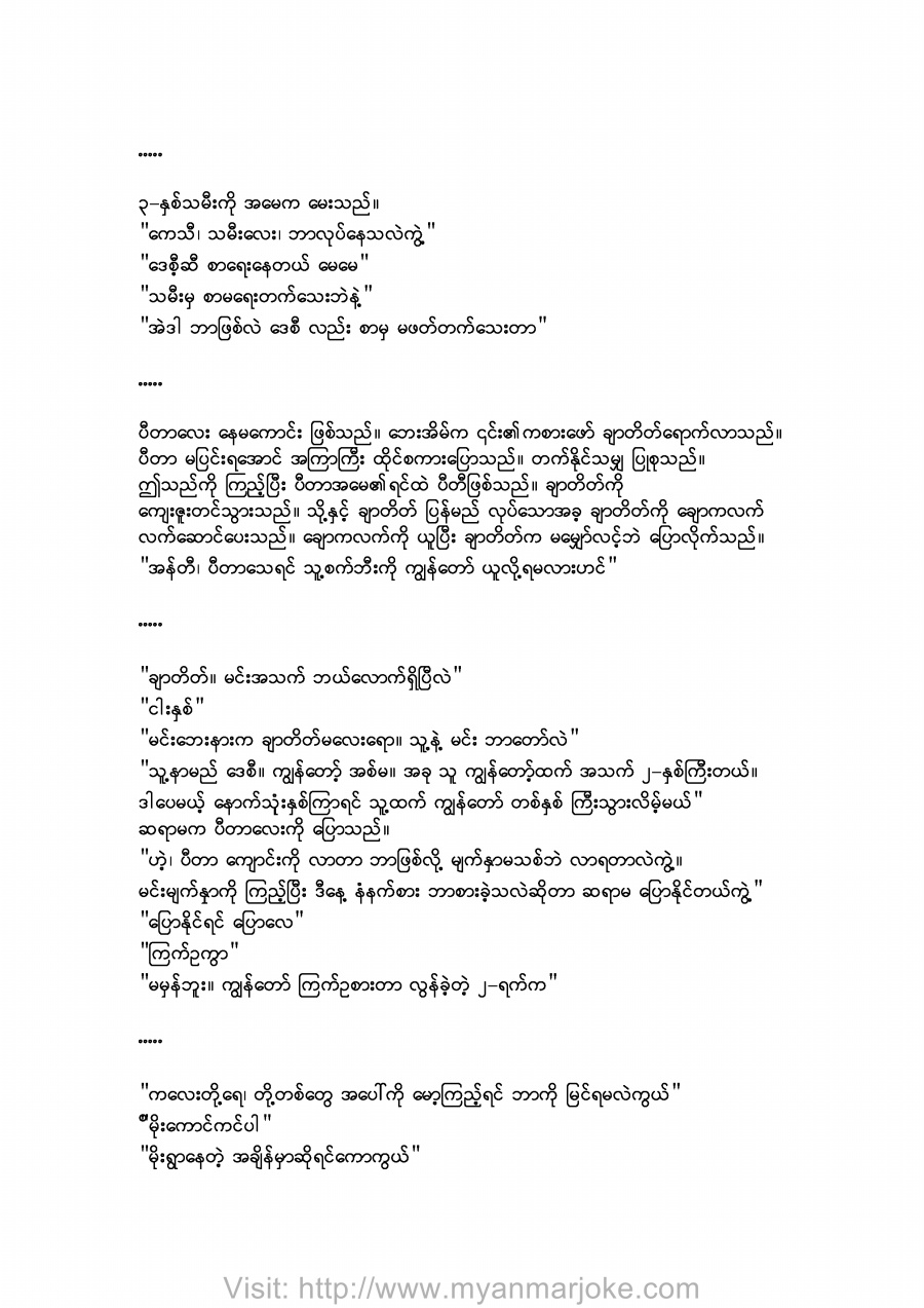 The Shadow, myanmar jokes