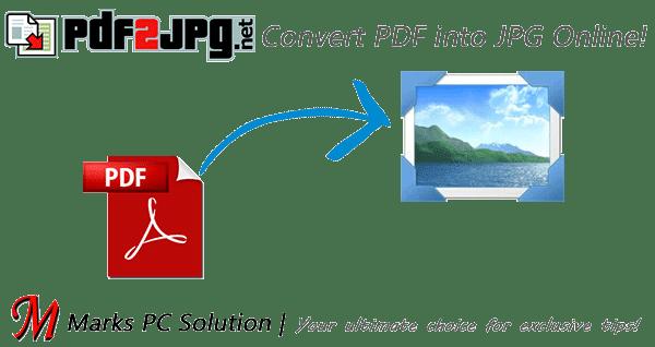 PDF 2 JPG Online Converter