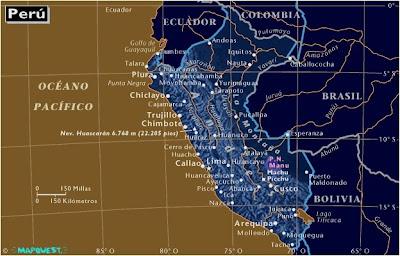 Mapa de PERU, Atlas