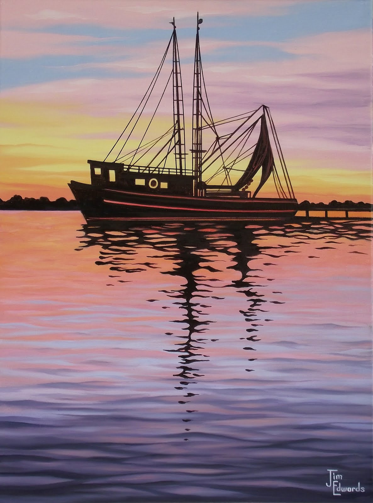 Calico Jack's Docked 18 x 24 (Sold)
