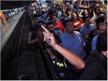 Manifestacion trabajadores del subte 2009