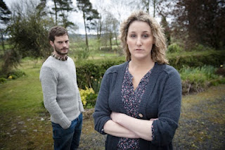The Fall BBC2 The serial killer Paul Spector (Jamie Dornan) and his wife Sally Ann (Bronagh Waugh)