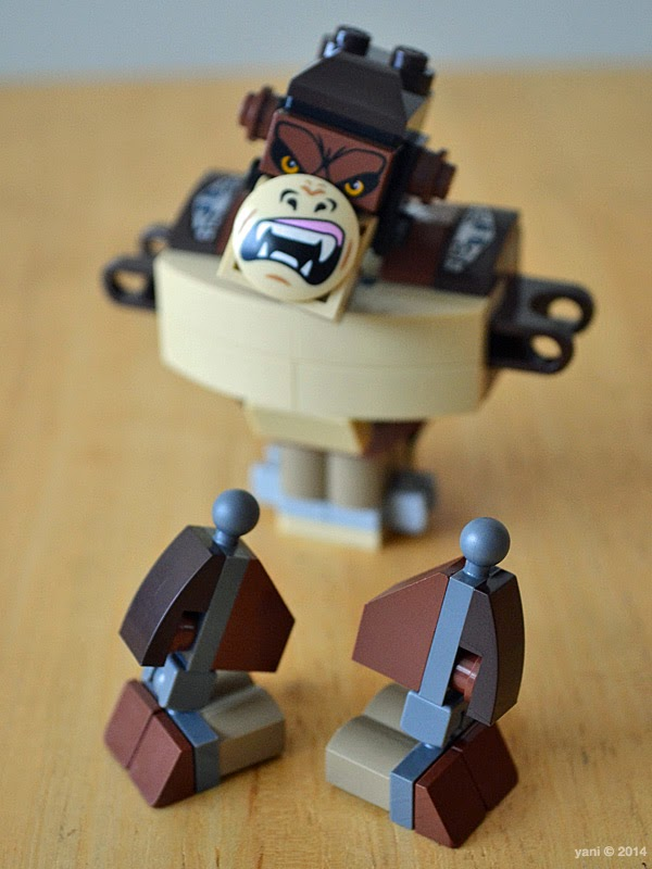 lego chima legend beast gorilla - are those legs or vacuum cleaners?