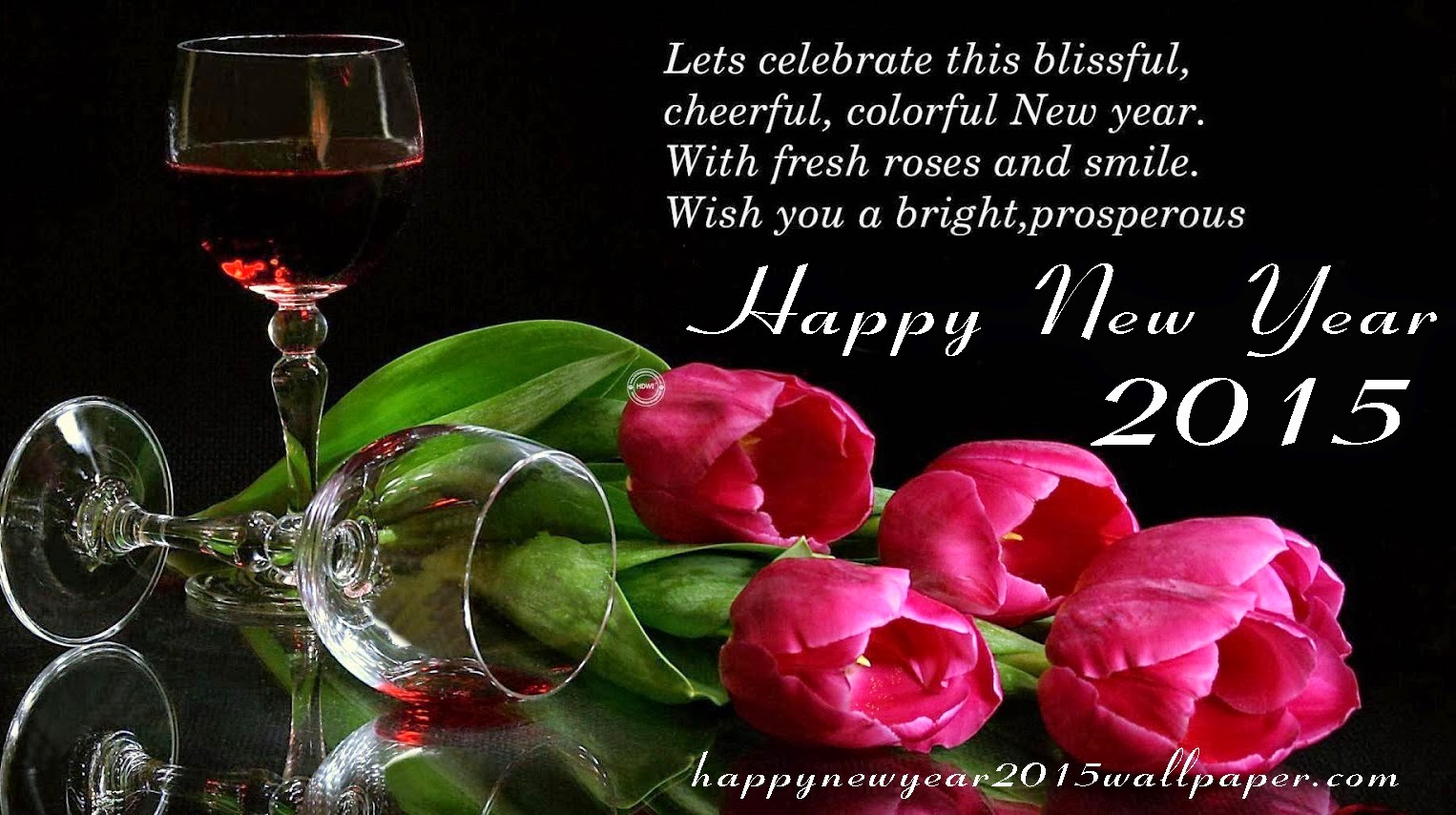 Happy New Year 2015 3d Image Wall Pics Telugu Hindi English Sms