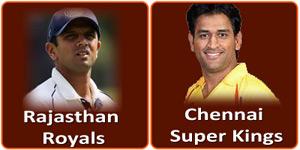 राजस्थान रॉयल्स बनाम चेन्नई सुपर किंग्स 12 मई 2013 को है।