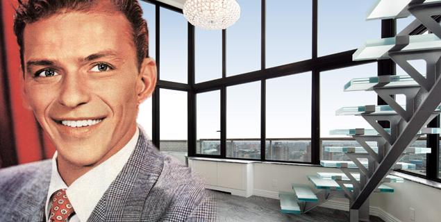 Frank Sinatra Penthouse in New York  Frank Sinatra's penthouse in Manhattan, a modern space from an eternal voice sinatra