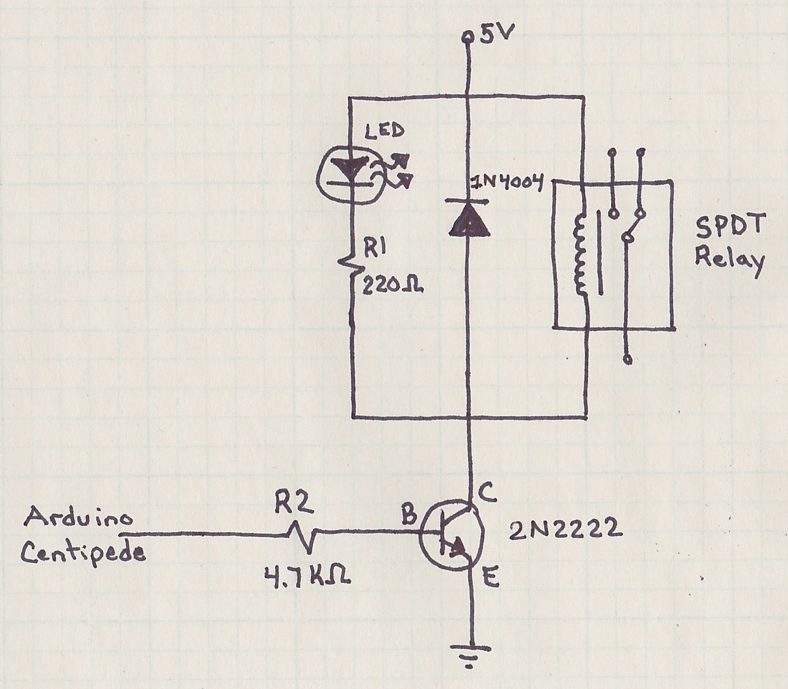 Burkes XMas Lights Relay Driver Circuit - Relay Circuit With Transistor