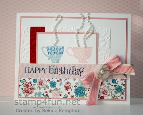 Create With Selene Tea Shoppe Birthday Card For My Mom