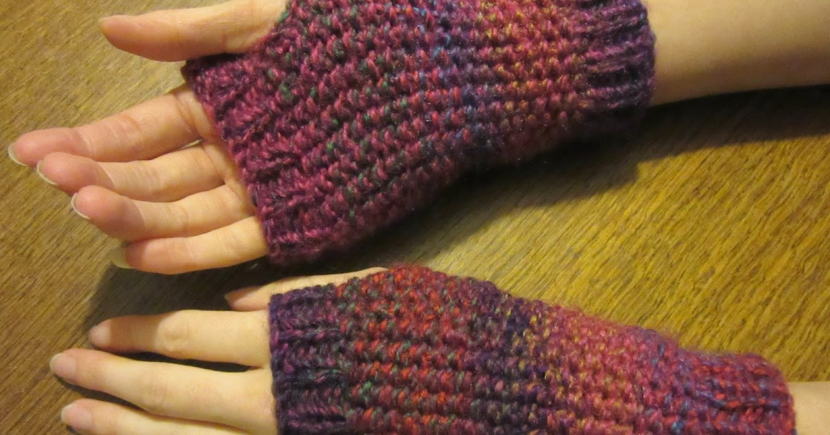 Handmadebymeg Free Simple Knitting Pattern For Wrist Warmers