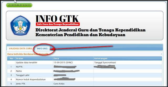 Fitur Tambahan di Cek Info GTK Tahun 2015