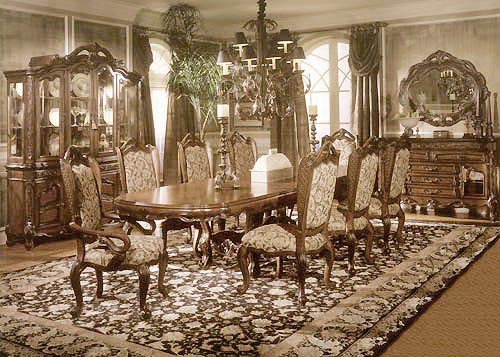 Bedroom sets high end for Dining room ideas vintage