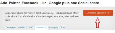 Memasang Tombol Facebook, Twitter, G Plus pada Postingan Wordpress
