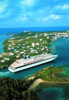 Celebrity Cruises' Ship Entering St. George Bermuda in the 1990s