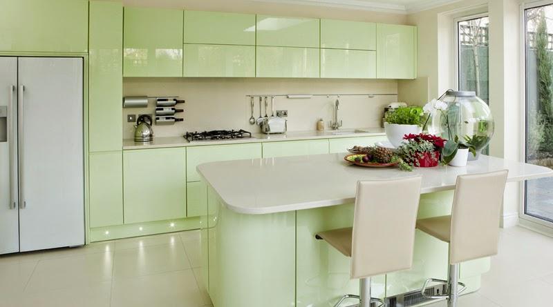 Keuken Groen Verven : koelkast ontzettend leuk vind, vind ik deze lichtgroene keuken