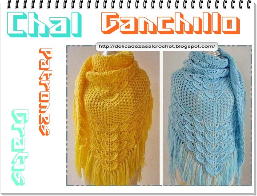 Delicadezas en crochet Gabriela: Chal ganchillo muy fácil