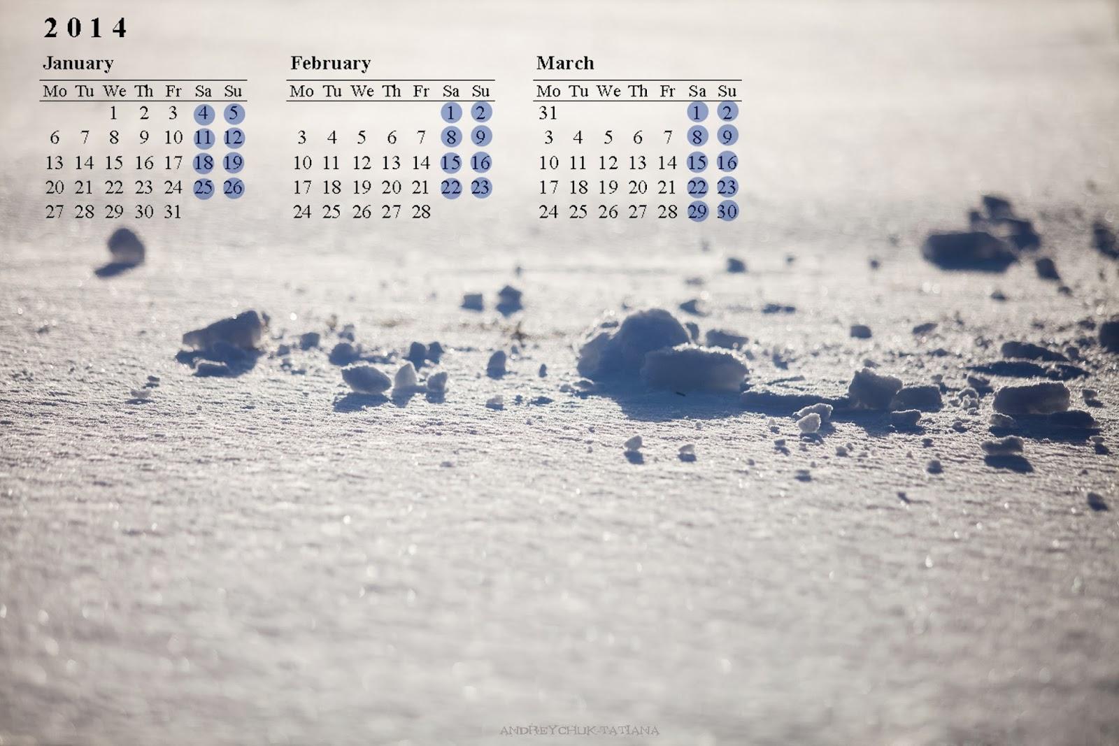 синие тени на белом снегу
