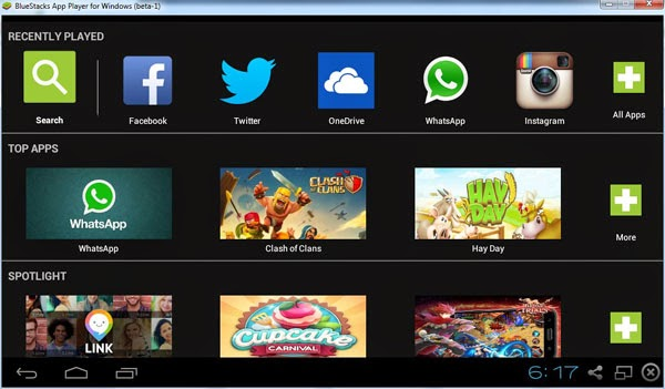 Opinions about BlueStacks App Player for Windows 8