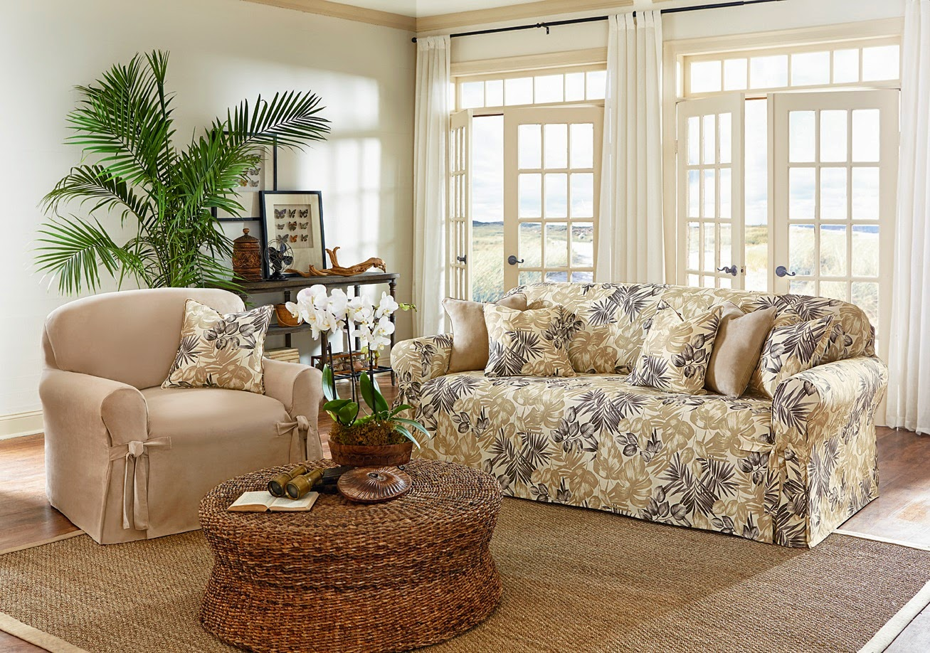 Sure Fit Slipcovers April 2014 : TropicalFloralroom from surefitslipcovers.blogspot.com size 1307 x 918 jpeg 424kB