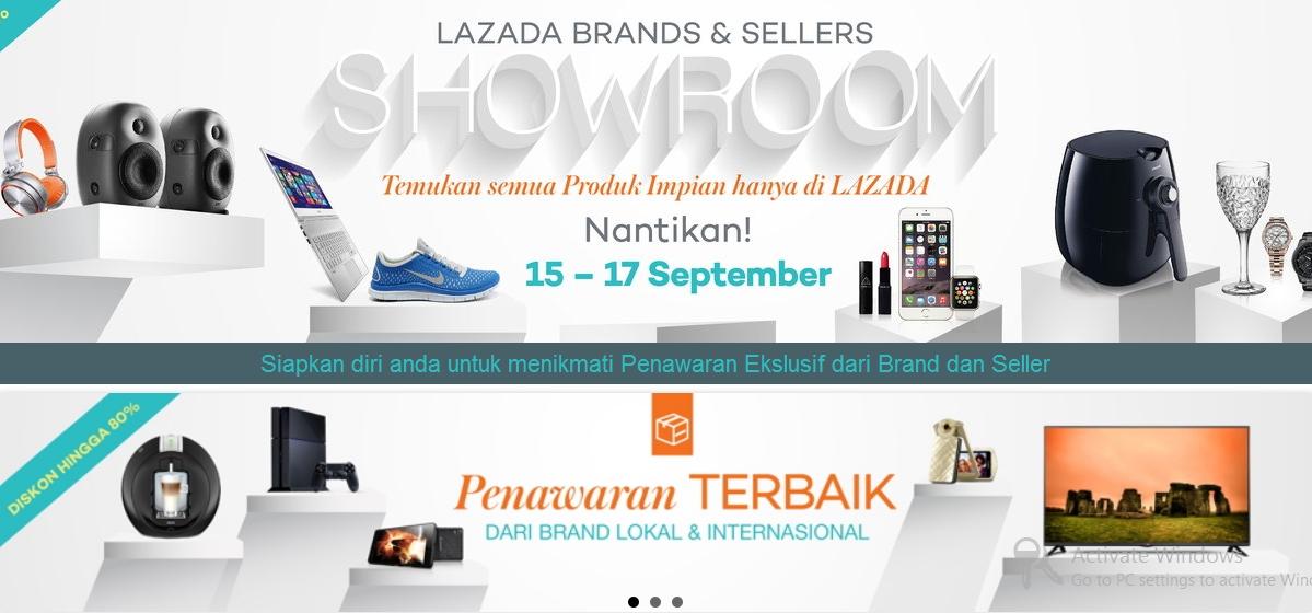 Lazada Brand Showroom 15 – 17 September 2015 Manjakan Konsumen Belanja Online