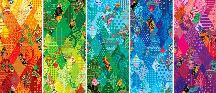 The Sochi Olympics patchwork quilt