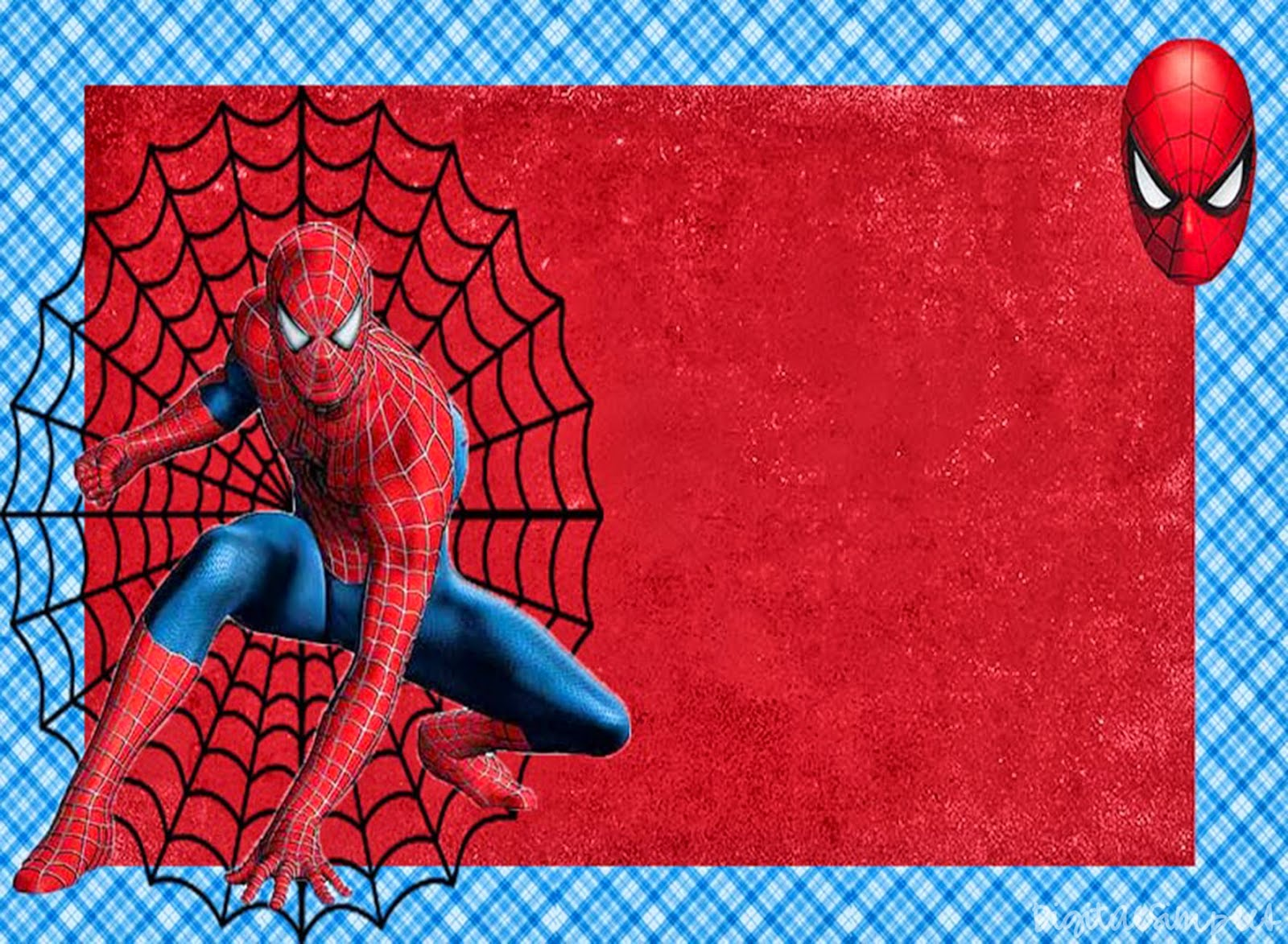 Spiderman: Free Printable Invitations, Cards or Photo Frames. - Oh ...