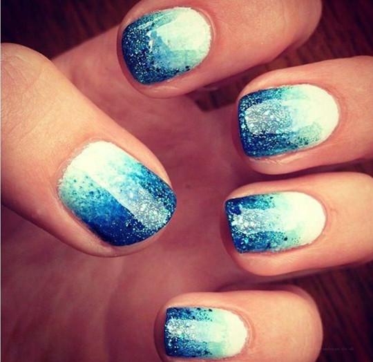 unique Glitter Ombre Nails for 2016 wedding ideas