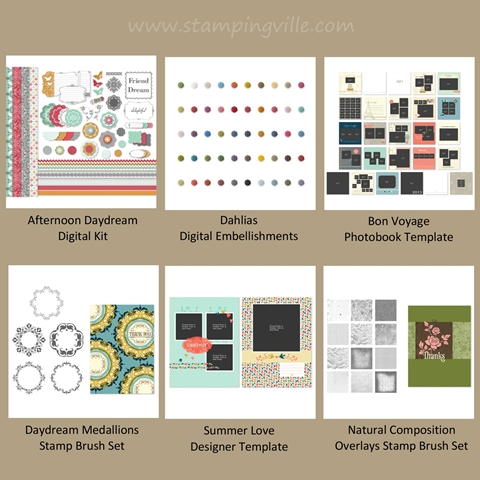 New Stampin' Up! digital downloads for June 26, 2012