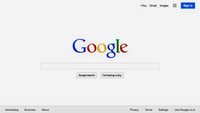 Info Blog, halaman utama google