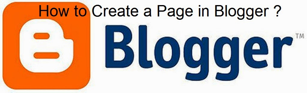 How to Create a Page in Blogger : eAskme