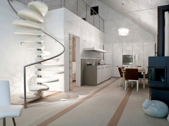 Modern white prefabricated home design, Italy: Modern Prefab ...
