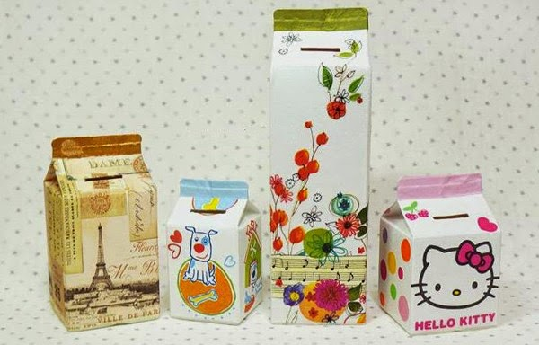 Haz una alcancía reciclando envases tetrapak ~ Solountip.com