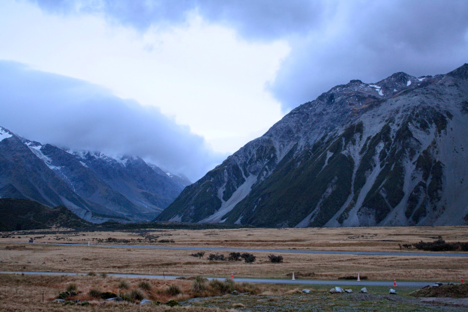 View from the backpackers in Aoraki National Park.