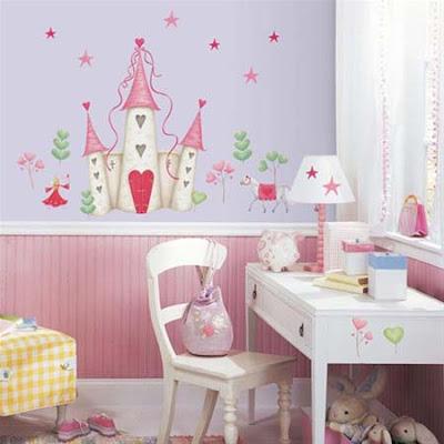 Habitaciones decoradas con pegatinas con mucho color - Pegatinas para dormitorios infantiles ...