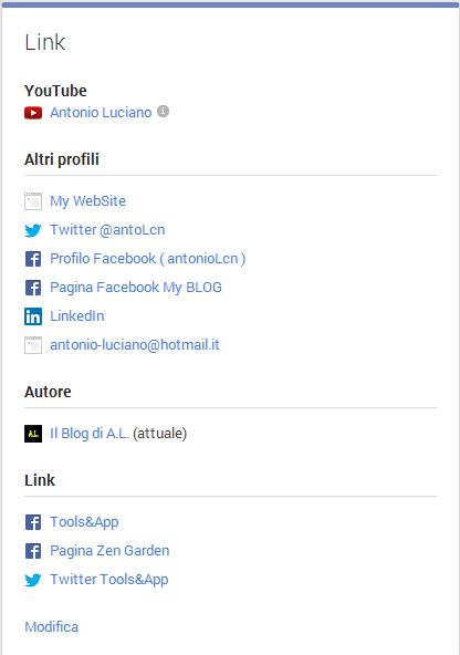 informazioni google plus link