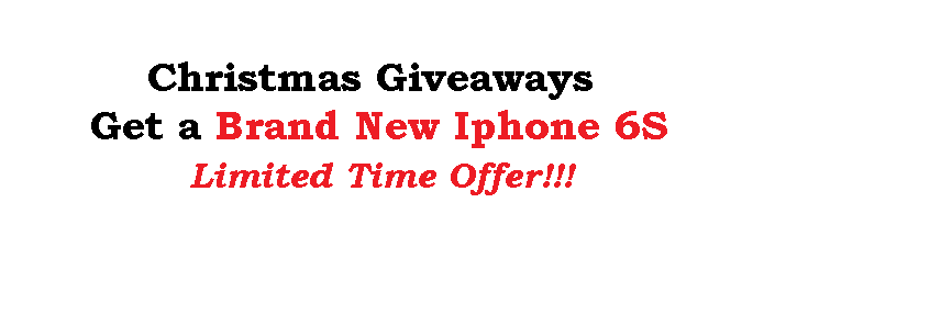 Get a Brand New iPhone 6S!